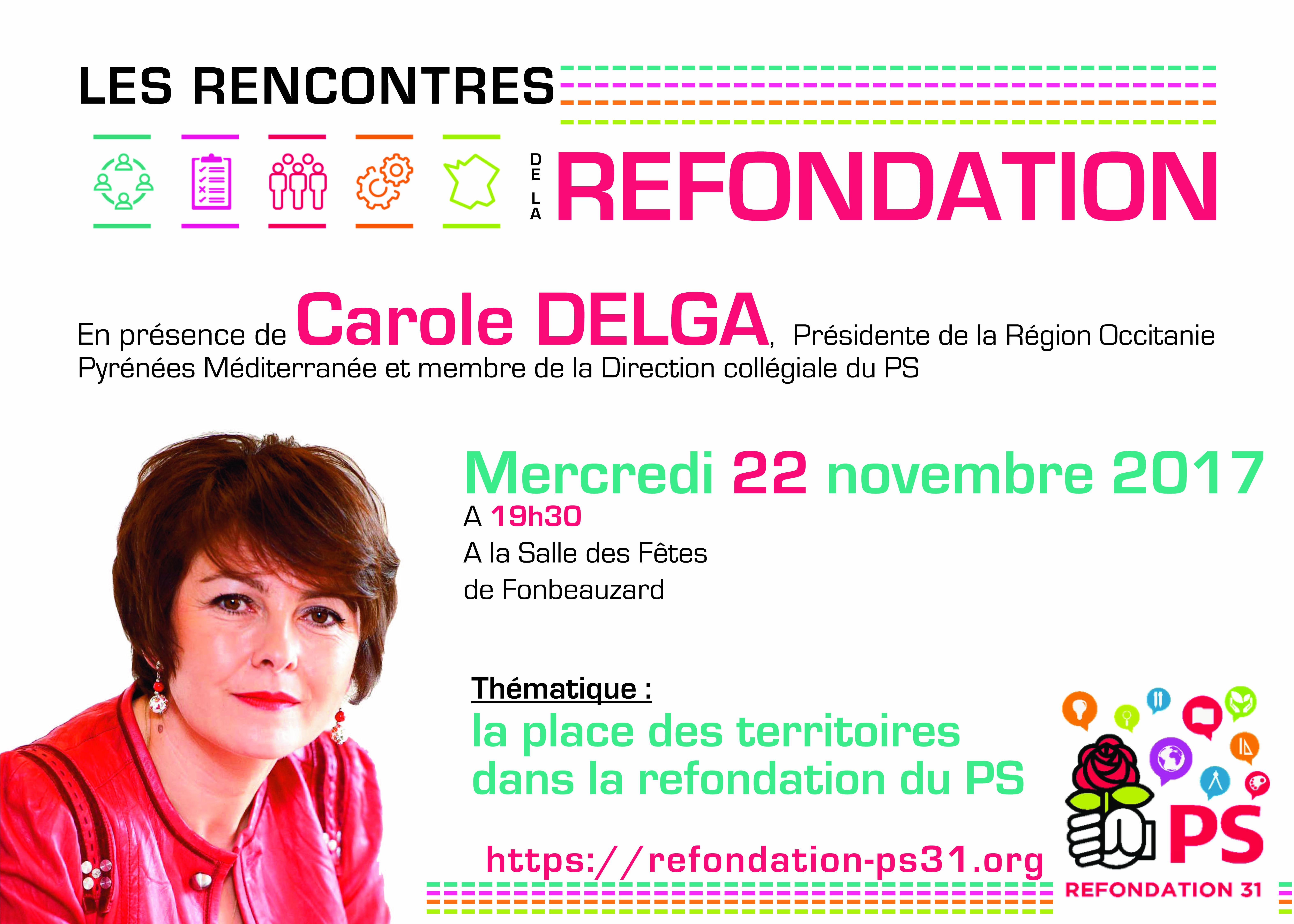 Refondation #PS31 - AG de Circonscription - avec Carole Delga