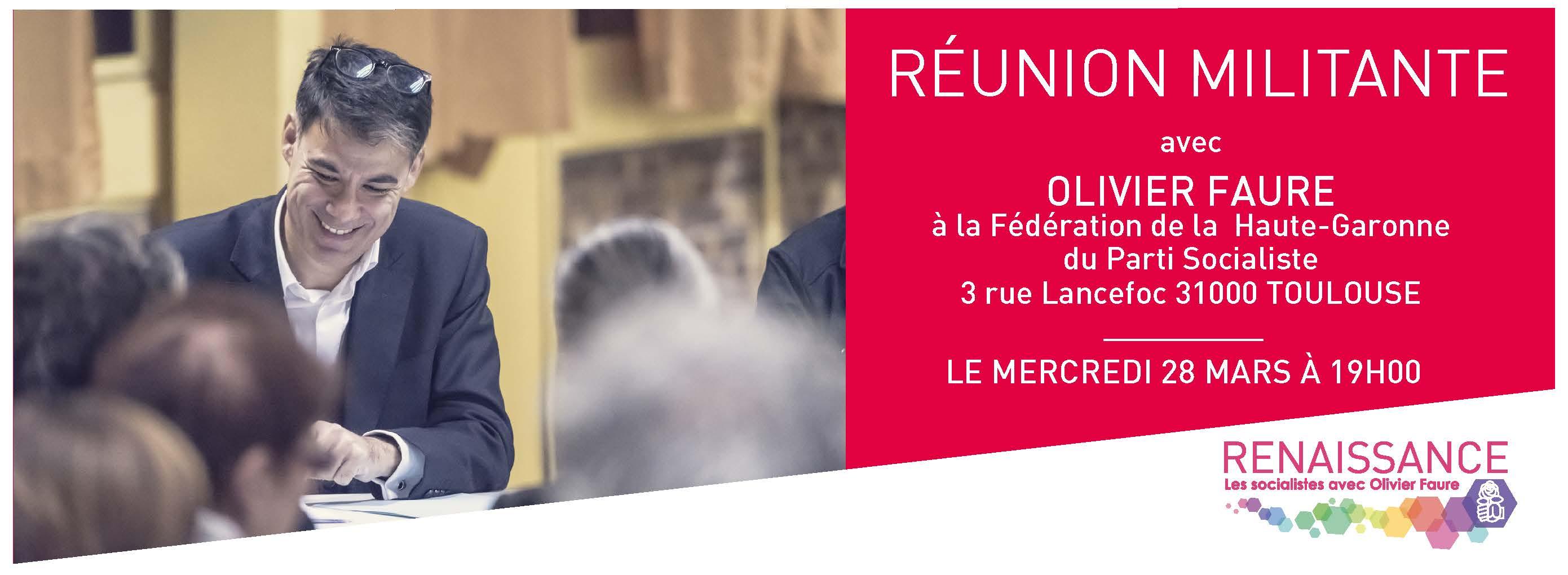 Olivier FAURE sera à Toulouse mercredi 28 mars